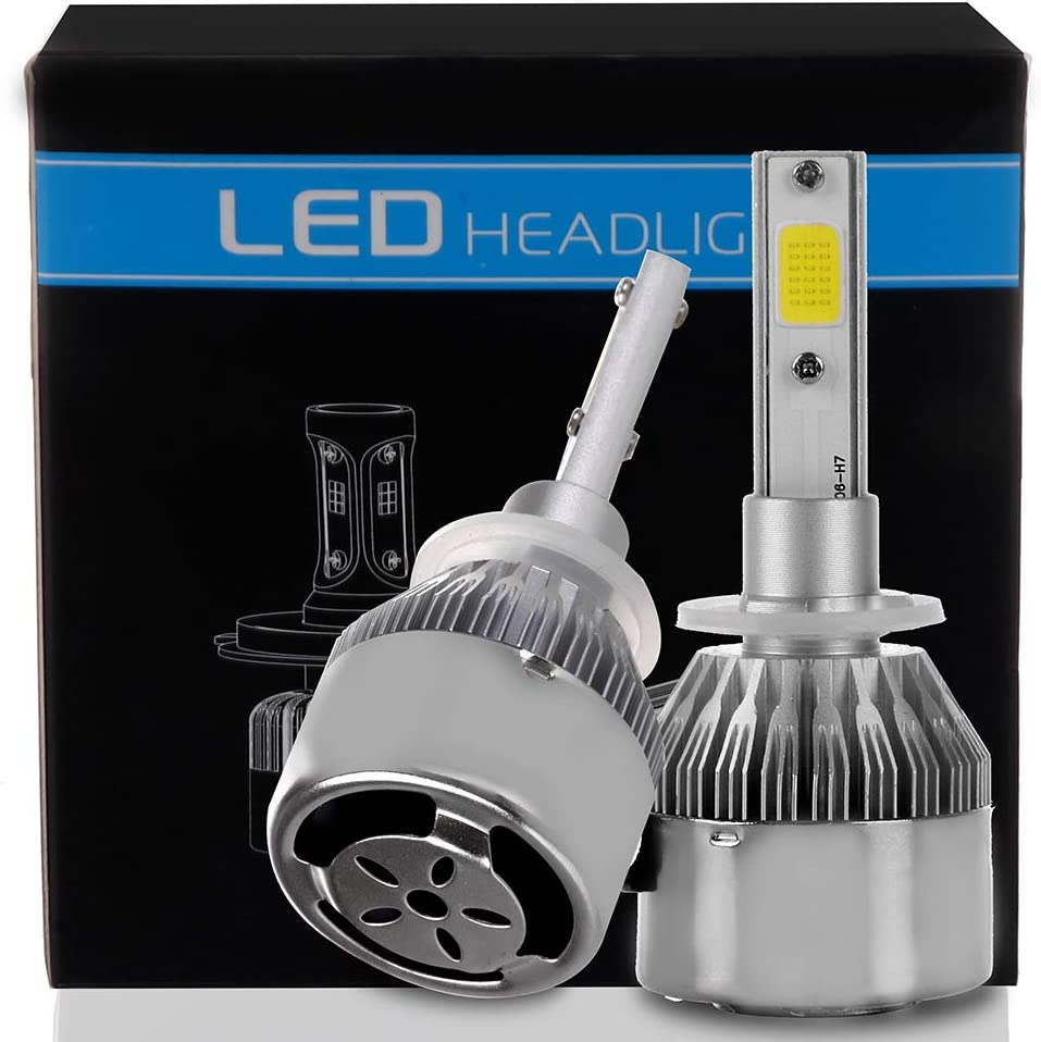 Pack of 2 80W 6000K 9600LM 9003//H4 LED Headlight Bulb Hi//Lo Beam White Headlamp Conversion Kit