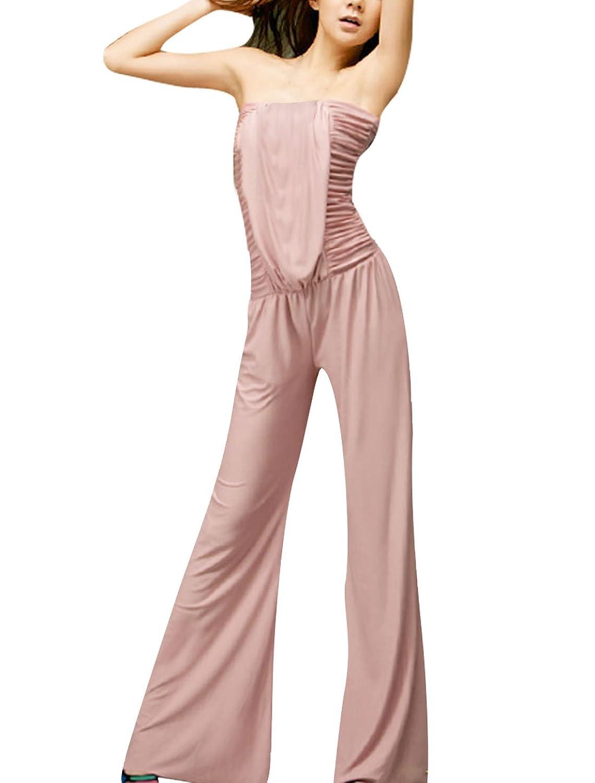 Allegra K Women Ruffle Front Sleeveless Jumpsuit Pants Playsuit