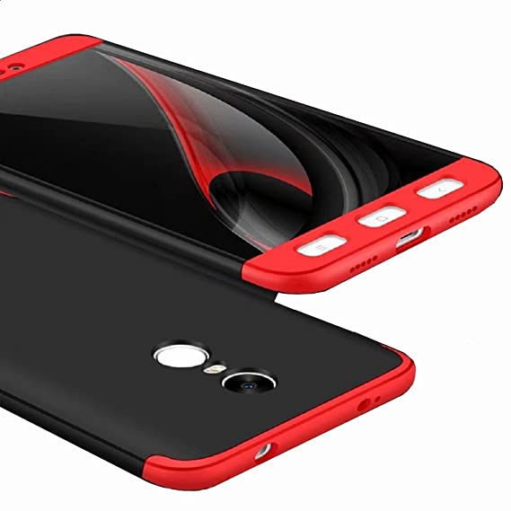 detailed look 5a742 a067e AEETZ Knight Series Back Cover for Redmi Note 4/Mi Note 4 (Black and Red)