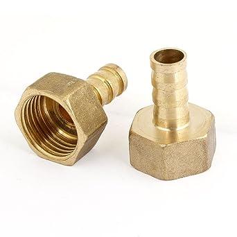 1//2BSP Rosca Macho a 10 mm Manguera Recto Acoplador Adaptador de montaje Quick
