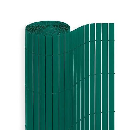 Homelux PVC Sichtschutz für Balkon Terrasse und Garten Sichtschutzmatte  Sichtschutzzaun Windschutz, Grün, 80 x 500 cm