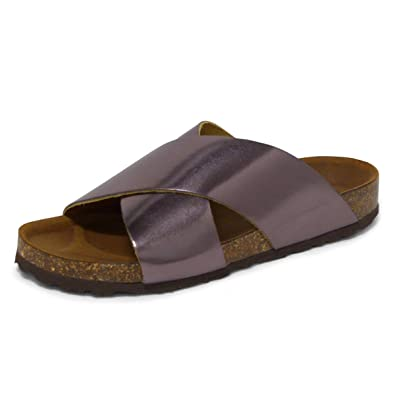 b28c73cc3b90 ANDREW STEVENS Barcelona Leather Platform Flat Sandals for Women