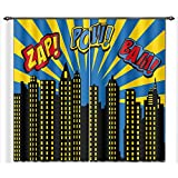 bedroom curtain ideas LB City Scenery Window Curtains for Bedroom Living Room,Super City Word Modern Decor Room Darkening 3D Blackout Curtains Drapes 2 Panels,28 by 65 inch Length