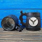 Burning Legion Wooden Beer Mug, World Of Warcraft Engraved Beer Mug Gift, Horde Mug, WOW Handmade Wooden Mug, WOW04L