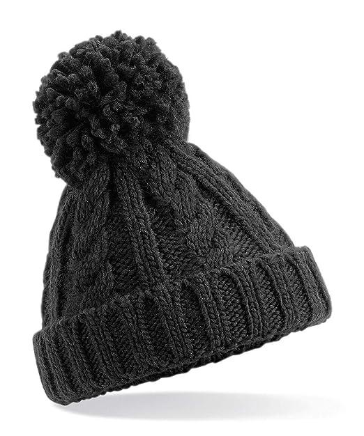 da450533172 Amazon.com  Anvil Beechfield B480A Infant Cable Knit Melange Beanie ...
