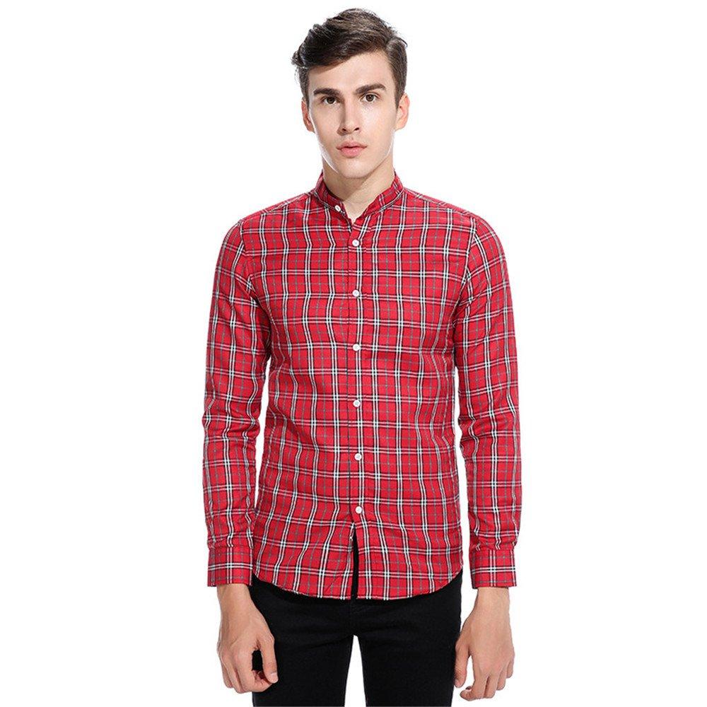 Lixus männer langärmliges Hemd, europäischen kodex männer langärmliges Hemd,Rot - rot,XL