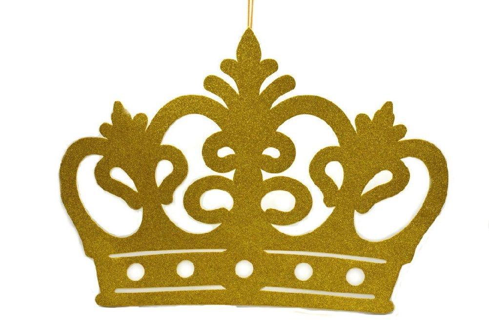 ICE WASHINGTON home series Jumbo Size Princess Crown Glitter Foam Decorations