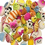 Kayoon Random 15PCS Kawaii Squishy Bread Charms Jumbo Medium Mini Food/Panda/Toasts/Cake Phone Pendant Straps Stress Relief Toy Gifts