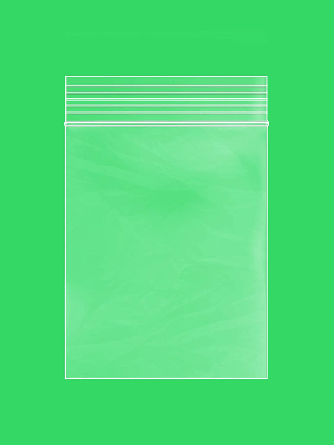 Clear Plastic Reusable ZIPLOCK Bags - Bulk GPI Pack of 100 3