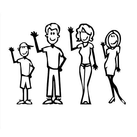 Pegatinas Para Coche Con Dibujos De Dibujos Animados De Familia