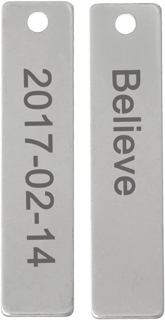 3 x Silver 201 Stainless Steel Rectangle Stamping Blanks 24 x 43mm ZX20165