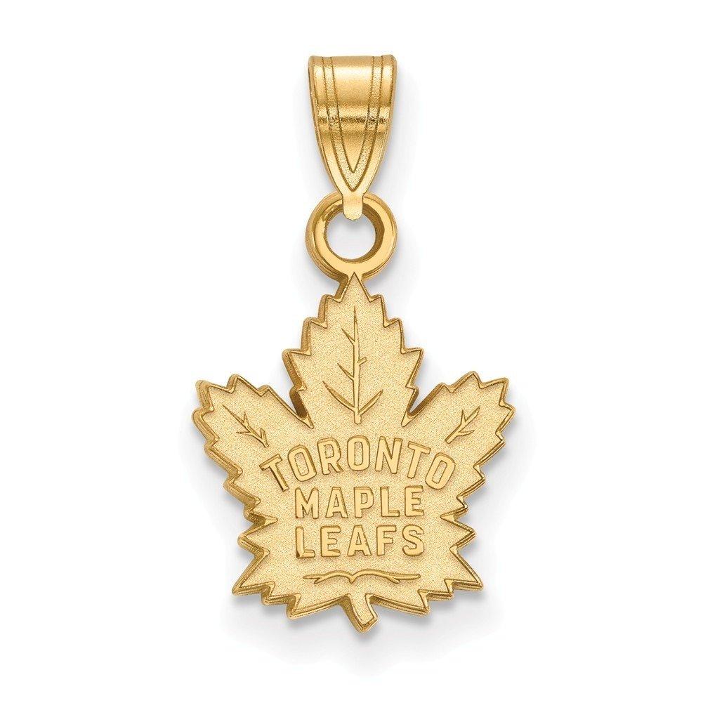Lex & Lu LogoArt 14k Yellow Gold NHL Toronto Maple Leafs Small Pendant LAL4Y002MLE