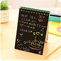 【JLM-Waroom】 Hot Magic Drawing Book  DIY scratch note  Black cardboard  As a gift for children  Stationery school supplies