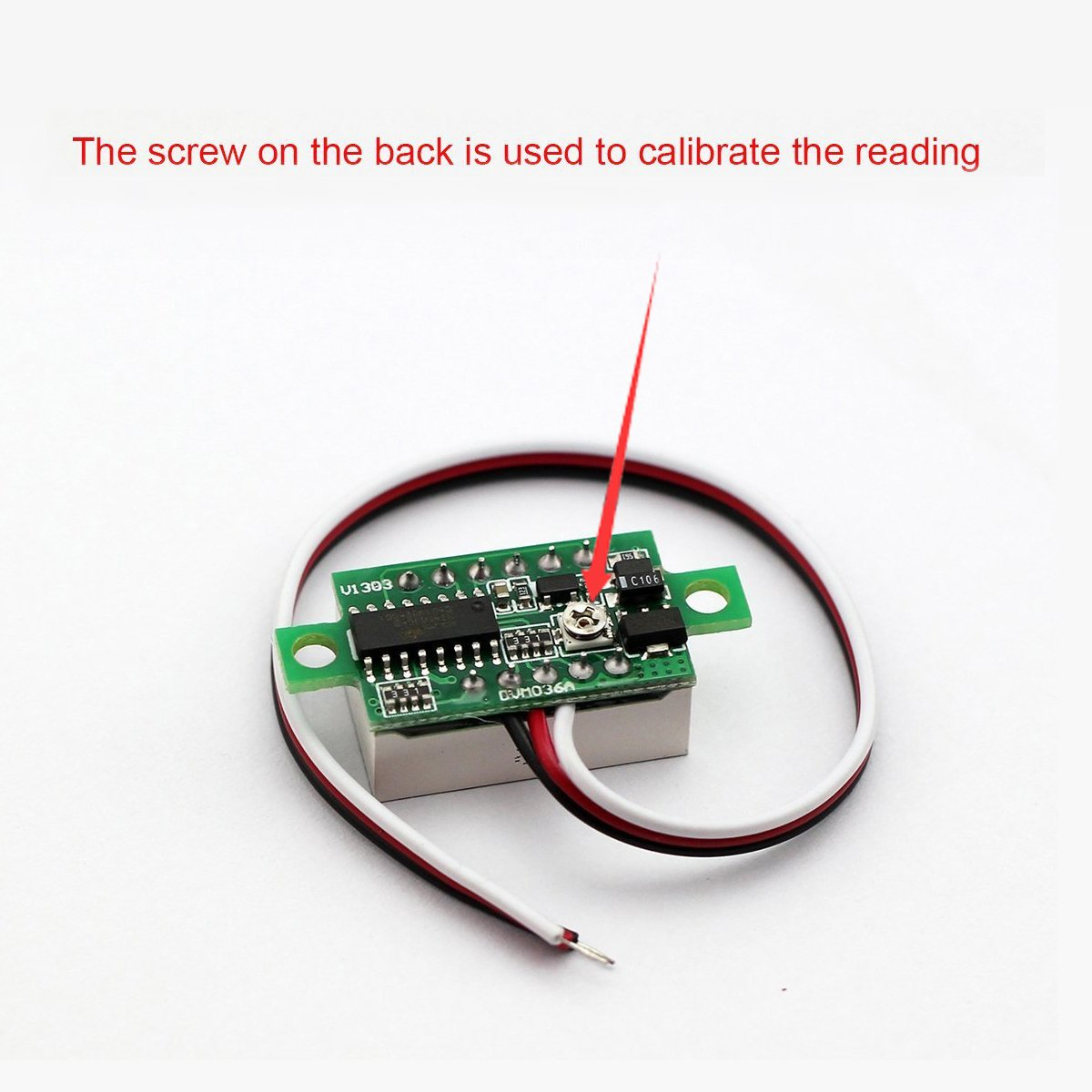Bayite 3 Wire 036 Dc 030v Digital Voltmeter Gauge Tester Red Led The Accuracy Of This Schematic Is Limited Display Panel Mount Car Motorcycle Battery Monitor Volt Voltage Meter Pack 5