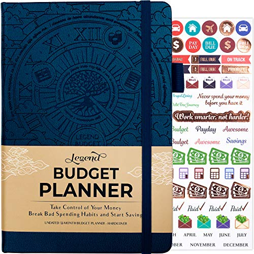 Legend Budget Planner - Deluxe Financial Planner Organizer & Budget Book. Money Planner Account Book & Expense Tracker Notebook Journal for Household Monthly Budgeting & Personal Finance -Mystic Blue
