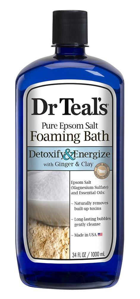 Dr Teal Detox Soak Ginger Size 34z Dr Teal Detox Ginger & Clay Foam Bath 34z Dr Teal's