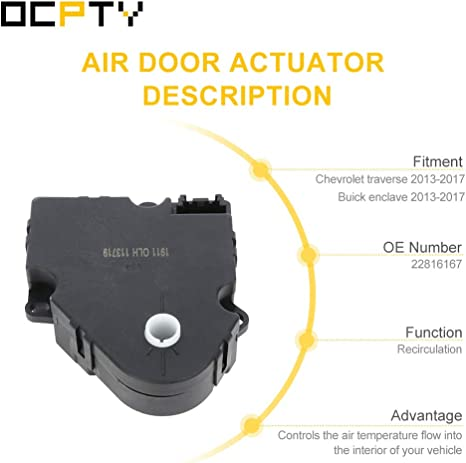 for C-hevrolet traverse 2013-2017,G-MC acadia 2013-2017 22816167 Air Door Actuator 2 PCS A//C HAVC Heater Blend Door for B-uick enclave 2013-2017