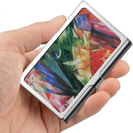 Pintura Franz Marc Arte abstracto Pintor alemán Estuche para tarjetas de visita Estuche moderno para tarjetas de presentación Metal profesional 3.81x 2.7 X 0.29 pulgadas Estuche para tarjeta: Amazon.es: Oficina y papelería