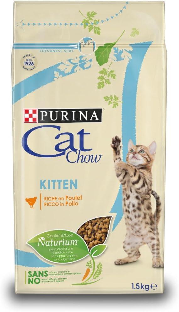 Purina Cat Chow Comida Seco para GatitosRico en Pollo - 1.5 Kg