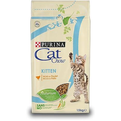 Purina Cat Chow Comida Seco para Gatitos Rico en Pollo - 1.5 Kg