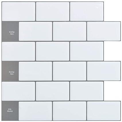 Kitchen Backsplash Sheets | Amazon Com Art3d 12 X12 Peel And Stick Backsplash Tile Sticker For