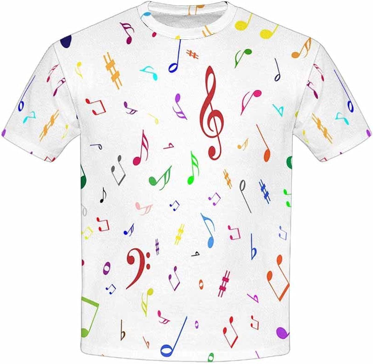 XS-XL INTERESTPRINT Music Notes Unisex Kids T-Shirts