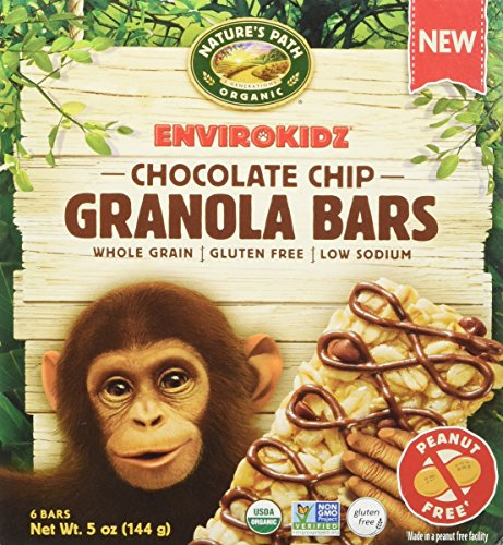 Envirokidz Organic Gluten-Free Whole Grain Granola Bars, Chocolate Chip, 5 Ounce