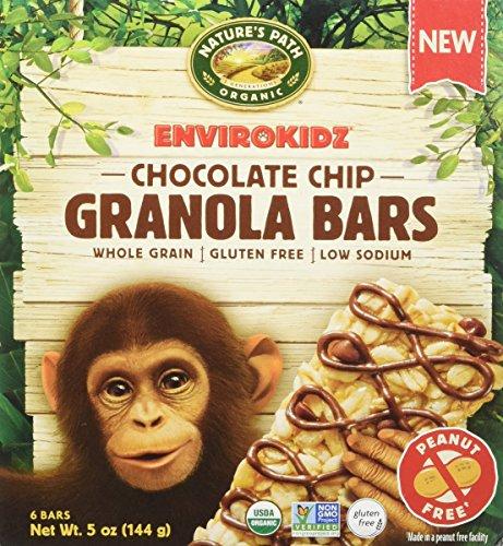 EnvirokidzOrganic Gluten-Free Whole Grain Granola Bars, Chocolate Chip, 5 Ounce
