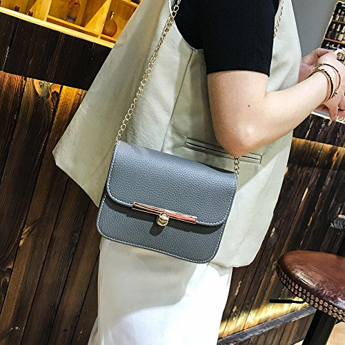 Sale Solid Bag Women Handbag Gray Ladies Sunday77 for Shoulder Clearance Tote Vintage Casual Purse Leather Crossbody Bag Classic 's Women Bag Fashion Chain vrwv7x