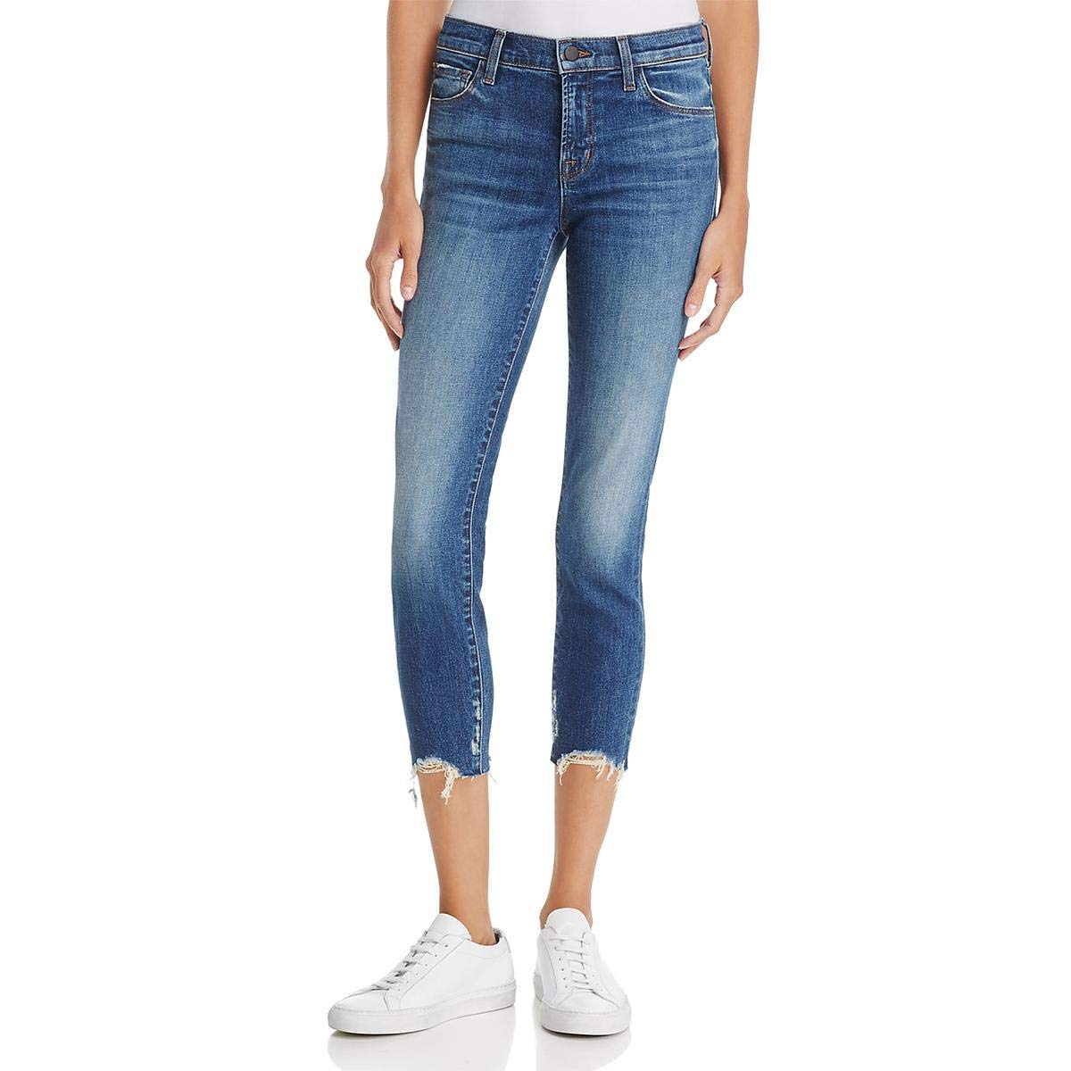 bluee J Brand Womens Skinny Cropped Cropped Jeans