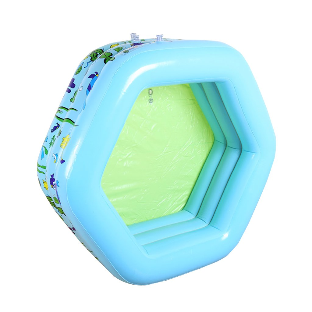 WENJUN Inflatable Pool Bathtub Infant Child Warm Thickened Large Hexagonal Inflatable Ocean Ball Pool Family Pool Bath Tub (Size : 13313350 cm)