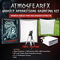Amosfearfx Ghostly Apparitions Video Ultimate Projector Bundle.Includes Projector, Dvd, Translucent Window Screen And Hologram Screen Stand Kit.
