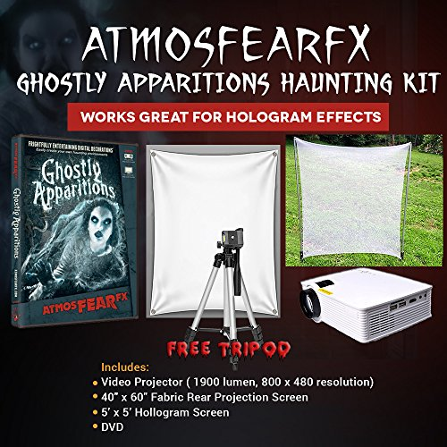(Amosfearfx Ghostly Apparitions Video Ultimate Projector Bundle.Includes Projector, Dvd, Translucent Window Screen And Hologram Screen Stand Kit.)