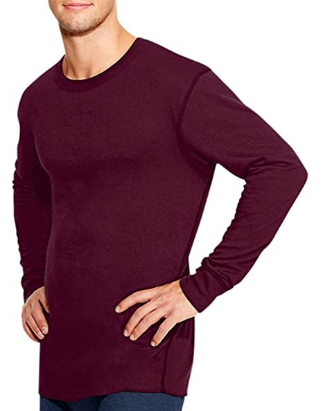 d933630a7a3 Duofold by Champion Thermals Men s Long-Sleeve Base-Layer Shirt Bordeaux  Red S