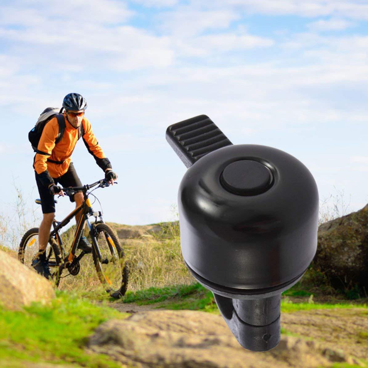 Campana Negro, Mal Funcionamiento Sonido para Bicicleta WEIWEITOE Nuevo Anillo de Metal Moda Manillar Color Negro Sonido Fuerte