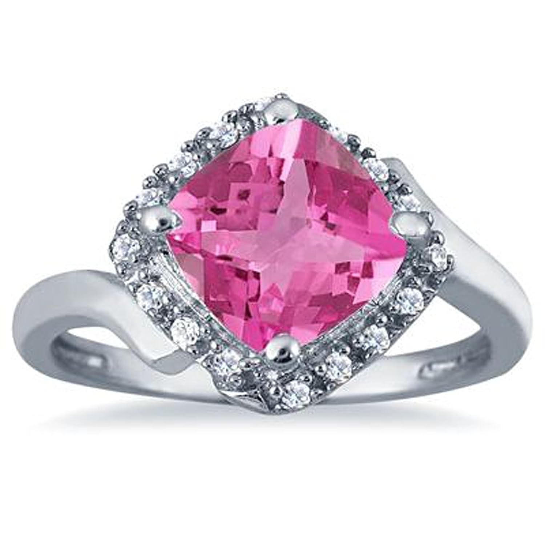 Amazon.com: 3djewels 2.50 Carat Cushion Cut Pink Sapphire ...