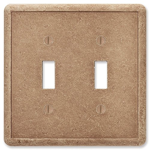 Questech Noche Tumbled Textured Wall Plate/Switch Plate/Outlet Cover (Double Toggle Switch)