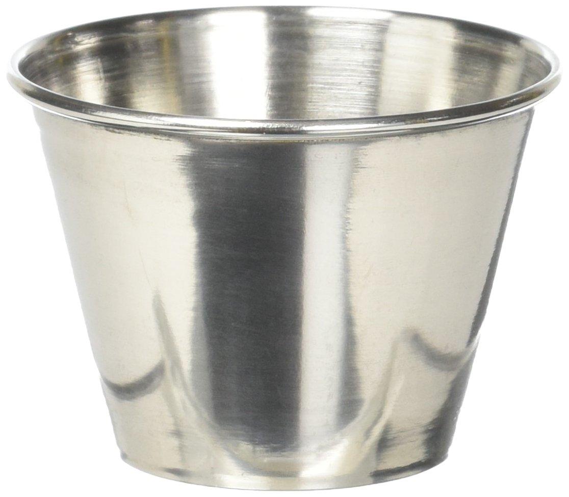 Winco SCP-25 Stainless Steel Sauce Cup, 2.5-Ounce (1 Dozen). 2.5-Ounce (1 Dozen). Winco USA