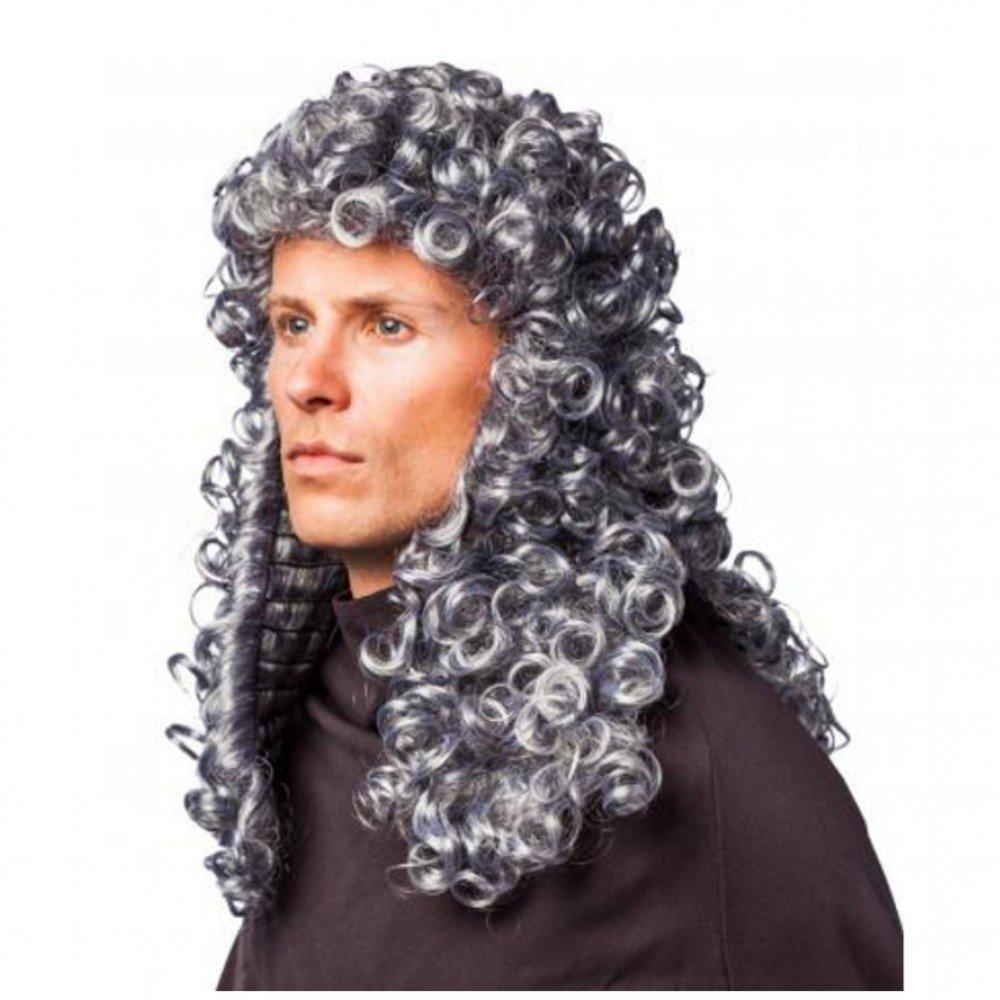 ORLOB KARNEVAL GmbH Peluca rizada Juez Gray Nobleman Lord Nobleman Barroco Carnaval medieval: Amazon.es: Juguetes y juegos