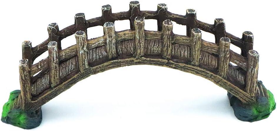HRRIVE Fish Tank Arch-Bridge Drawbridge Rock Décor for Aquarium Landscape Decoration, Made of Resin, Pack of 1