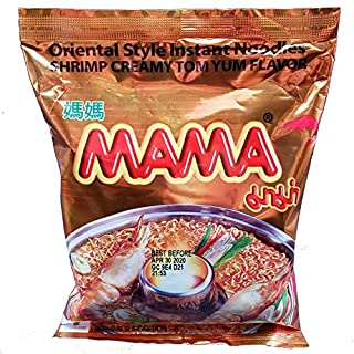 Mama Oriental Style Instant Noodles Shrimp Creamy Tom Yum Flavor (10 Pack)