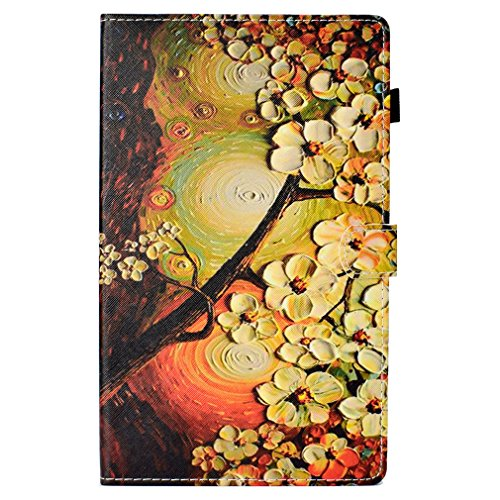 Card for Wake 10 Amazon Folding Fire Bookstyle Thin Pattern Magnolia Case Auto Inch of Closure HD 10 Function Slot 2017 Leather Case PU 1 Ultra Color LMFULM Sleep 2015 26 Magnetic Sten Leather Retro and pq5Cw8n