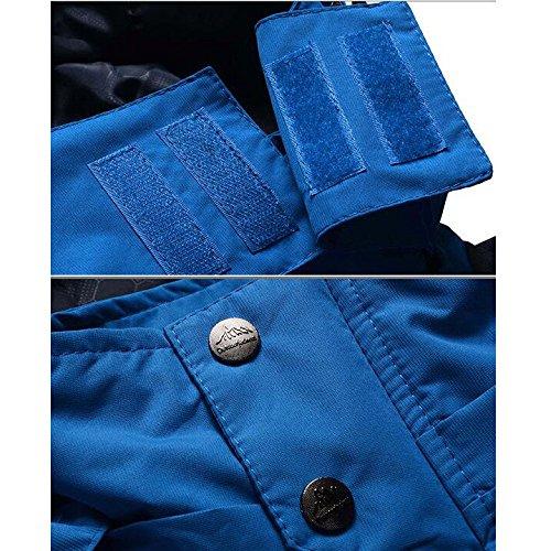 Traspirante Primavera Size Outdoor Giacca Shell Cappuccio Autunno Large Da Impermeabile Soft E Yongbe Blue Jacket Con Uomo Owx0Y4SYq