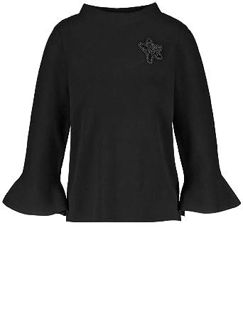 Gerry Weber Damen Pullover 3 4 Arm Rundhals Pullover mit Volantärmeln   Amazon.de  Bekleidung 6adbdc2d91