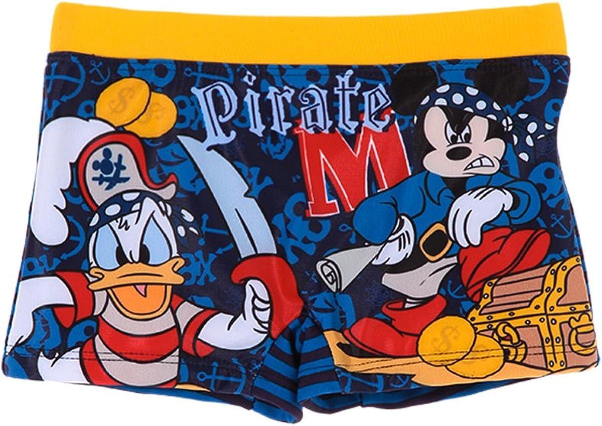 Disney Maillot de Bain Boxer Mickey Donald Marine//Jaune