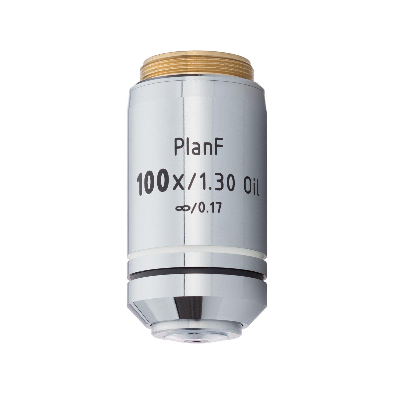 BoliOptics Infinity-Corrected Plan Fluor Semi-Apochromatic Microscope Objective Lens Set Oil Spring 4X 10X 20X 40X 100X FM05103051