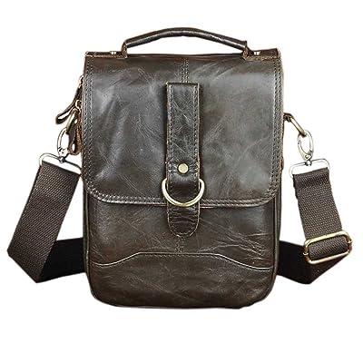 Genda 2Archer Genuine Leather Handbag Men 8 Inch Travel Shoulder Messenger bag