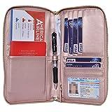 Easyoulife Travel RFID Blocking Passport Wallet Holder Case Document Organizer (Gold)