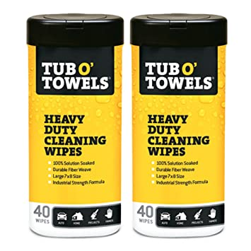 Tub O Towels Heavy-Duty Multi-Surface Cleaning Wipes, Citrus, 7 X