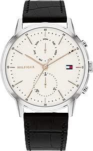 Tommy Hilfiger Reloj Analógico para Hombre de Cuarzo con Correa en Piel de Becerro de Cuero 1710434